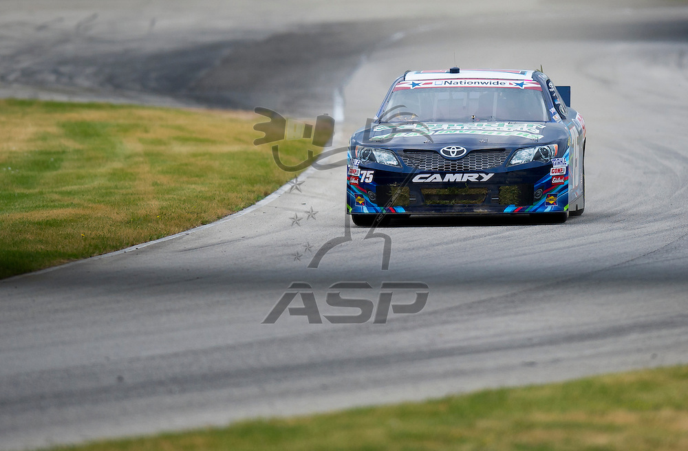 Elkhart Lake,WI - JUN 22, 2012: Kenny Habul (75) team takes to the track during the first practice for the Sargento 200  race at Road of America in Elkhart Lake , WI.