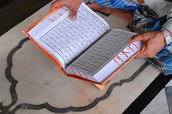 June 14, 2017 - Kolkata, West Bengal, India - Indian Muslims read the Koran at the City Masque during the holy month of Ramdan in Kolkata, India, on 15 June 2017. (Credit Image: © Debajyoti Chakraborty/NurPhoto via ZUMA Press)