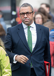 © Licensed to London News Pictures. 08/04/2019. London, UK. James Cleverly, Deputy Chairman of the Conservative Party, arrives at Parliament. Prime Minister Theresa May will meet with German Chancellor Angela Merkel in Berlin, and French President Emmanuel Macron tomorrow ahead of Wednesday's EU Summit. Photo credit: Peter Macdiarmid/LNP