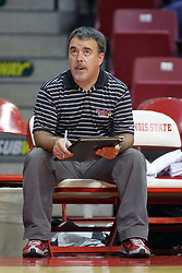 28 AUG 2009: Assistant coach Adriano de Souza watches the Redbirds. The Redbirds of Illinois State defeated the Runnin' Bulldogs of Gardner-Webb in 3 sets during play in the Redbird Classic on Doug Collins Court inside Redbird Arena in Normal Illinois