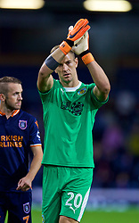 BURNLEY, ENGLAND - Thursday, August 16, 2018: Burnley's goalkeeper Joe Hart applauds the supporters after his side's 1-0 extra-time victory during the UEFA Europa League Third Qualifying Round 2nd Leg match between Burnley FC and İstanbul Başakşehir at Turf Moor. (Pic by David Rawcliffe/Propaganda)