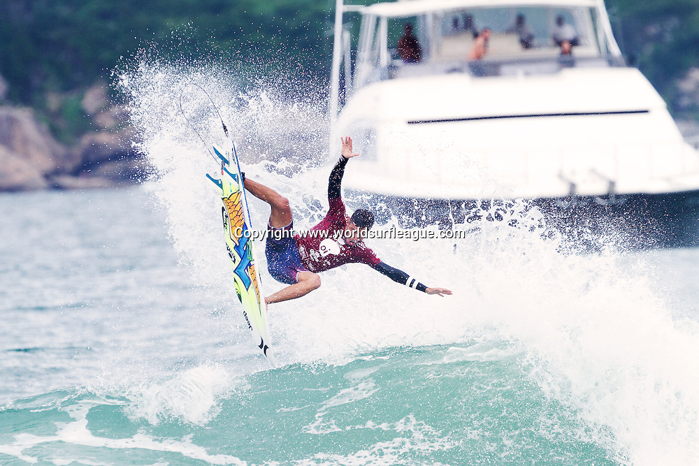 BARRA DA TIJUCA, Rio de Janeiro/Brazil (Saturday, May 16, 2015) &ndash; Filipe Toledo of Ubatuba, Sao Paulo, Brazil (pictured) winning his Quarter Final heat to advance into the Semi Finals of the Oi Rio Pro in Barra De Tijuca, Rio, Brasil.  <br /> <br /> IMAGE CREDIT: &copy; WSL / Smorigo<br /> PHOTOGRAPHER: Daniel Smorigo<br /> SOCIAL MEDIA TAG: @wsl @danielsmorigo<br />  <br /> The images attached or accessed by link within this email (&quot;Images&quot;) are provided by the Association of Surfing Professionals LLC (&quot;World Surf League&quot;). All Images are royalty-free but for editorial use only. No commercial rights are granted to the Images in any way. The Images are provided on an &quot;as is&quot; basis and no warranty is provided for use of a particular purpose. Rights to individuals within the Images are not provided. The copyright is owned by World Surf League. Sale or license of the Images are prohibited. ALL RIGHTS RESERVED.