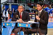 DESCRIZIONE : Final Eight Coppa Italia 2015 Desio Quarti di Finale Umana Reyer Venezia - Enel Brindisi<br /> GIOCATORE : Stefano Michelini<br /> CATEGORIA : Rai Sport TV<br /> EVENTO : Final Eight Coppa Italia 2015 Desio<br /> GARA : Umana Reyer Venezia - Enel Brindisi<br /> DATA : 20/02/2015<br /> SPORT : Pallacanestro <br /> AUTORE : Agenzia Ciamillo-Castoria/L.Canu