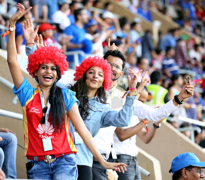 during match 46 of the Pepsi IPL 2015 (Indian Premier League) between The Mumbai Indians and The Royal Challengers Bangalore held at the Wankhede Stadium in Mumbai, India on the 10th May 2015.<br /> <br /> Photo by:  Sandeep Shetty / SPORTZPICS / IPL