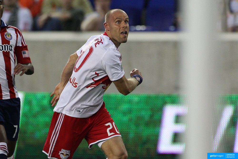 New York Red Bulls player Joel Lindpere in action during the New York Red Bulls V Chivas USA Major League Soccer match at Red Bull Arena, Harrison, New Jersey, 23rd May 2012. Photo Tim Clayton