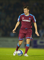 BRISTOL, ENGLAND - Tuesday, September 28, 2010: Tranmere Rovers' Aaron Cresswell in action against Bristol Rovers during the Football League One match at the Memorial Ground. (Photo by David Rawcliffe/Propaganda)