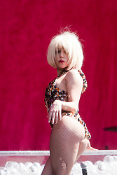 Sunlight sparkles on the outfit of Lady Gaga, the ultra glam, Grammy nominated American pop singer-songwriter made her debut on the main stage at T in the Park, on Saturday 11th July, 2009.