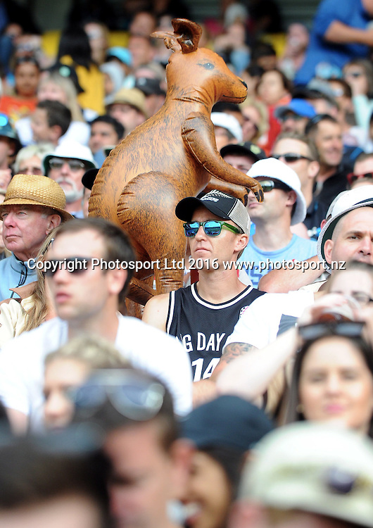 Fans in the 2nd match of the Chappell-Hadlee ODI series, New Zealand vs Australia, Westpac Stadium, Wellington, Saturday, February, 06, 2016. Copyright photo: Kerry Marshall / www.photosport.nz