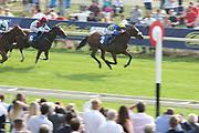 BYRONS CHOICE (3) ridden by jockey Callum Rodriguez and trained by Michael Dods wins The Gough & Kelly Apprentice Stakes over 7f (£15,000) at York Racecourse, York, United Kingdom on 13 July 2018. Picture by Mick Atkins.