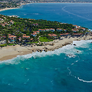 Aerial view of One and Only Palmilla hotel in San Jose del Cabo. BCS. Mexico
