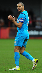 Curtis Weston of Barnet thanks fans after the full time whistle - Mandatory by-line: Nizaam Jones/JMP- 27/01/2018 - FOOTBALL - LCI Rail Stadium- Cheltenham,England - Cheltenham Town v Barnet -Sky Bet League Two