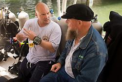 Disabled veterans scuba diving event