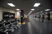 A Nike banner hangs on the wall of the weight room at Allen High School in Allen, Texas on August 24, 2016. &quot;CREDIT: Cooper Neill for The Wall Street Journal&quot;<br /> TX HS Football sponsorships