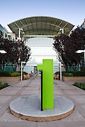 Apple's Cupertino campus is quiet and somber as employees and locals remember CEO Steve Jobs on Oct. 6, 2011, Cupertino, Calif.  Jobs passed away on Oct. 5, 2011, after an eight year battle with pancreatic cancer.  Photo by Stan Olszewski/SOSKIphoto