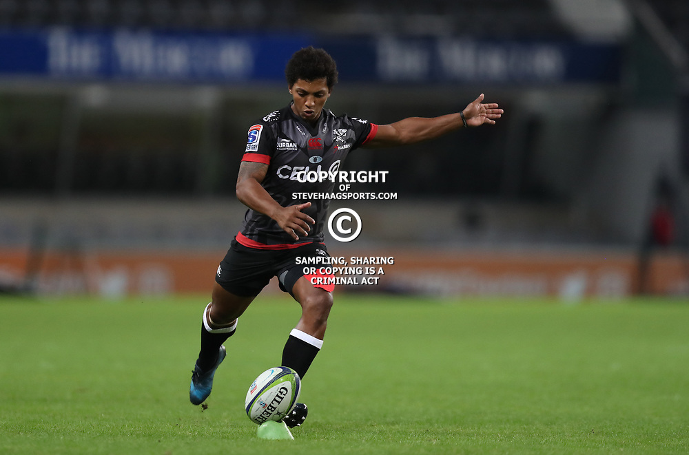 DURBAN, SOUTH AFRICA - MAY 27: Garth April of the Cell C Sharks during the Super Rugby match between Cell C Sharks and DHL Stormers at Growthpoint Kings Park on May 27, 2017 in Durban, South Africa. (Photo by Steve Haag/Gallo Images)
