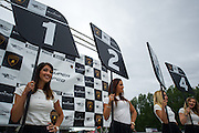 Lamborghini grid girls.