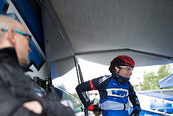 Natalie Grinczer (GBR) of Team WNT prepares for Stage 2 of the Emakumeen Bira - a 90.8 km road race, starting and finishing in Markina Xemein on May 18, 2017, in Basque Country, Spain. (Photo by Balint Hamvas/Velofocus)