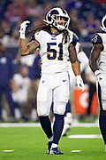 HOUSTON, TX - AUGUST 29:  Dakota Allen #51 of the Los Angeles Rams on the field before a game against the Houston Texans during week four of the preseason at NRG Stadium on August 29, 2019 in Houston, Texas. The Rams defeated the Texans 22-10.   (Photo by Wesley Hitt/Getty Images) *** Local Caption *** Dakota Allen