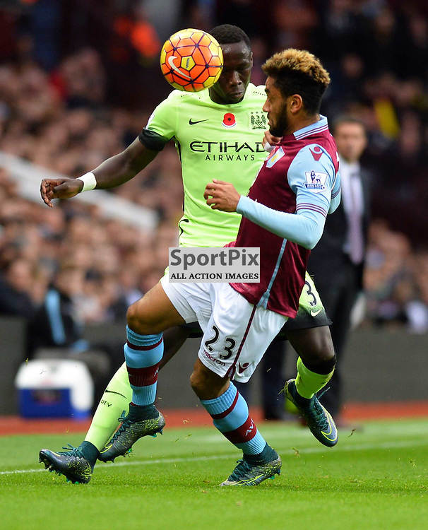 Bacray Sagna and Jordan Amavi go for the ball