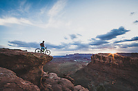 Dane Cronin takes in the view from Captn Ahab Trail, Moab, Utah.