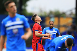 Aaron Morley of Rochdale reacts after missing a chance - Mandatory by-line: Matt McNulty/JMP - 16/07/2016 - FOOTBALL - Edgeley Park - Stockport, England - Stockport County v Rochdale - Pre-season friendly
