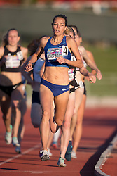 GUELPH, ON - JUNE 7: Canadian record holder and 2016 Olympic 800m finalist Melissa Bishop-Nriagu running to a meet record 2:01.10 in the 800m at the 2019 Speed River Inferno Track and Field Festival held at Alumni Stadium at the University of Guelph in Guelph, Ontario. This was Bishop-Nriagu's first 800m after a nearly two year break to have a baby. (Photo by Sean Burges/Icon Sportswire)