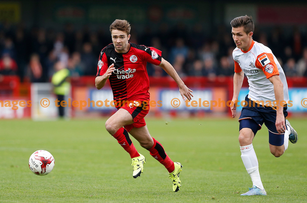 Crawley&rsquo;s Gwion Edwards on the move during the Sky Bet League 2 match between Crawley Town and Luton Town at the Checkatrade.com Stadium in Crawley. October 17, 2015.<br /> James Boardman / Telephoto Images<br /> +44 7967 642437