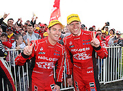 Garth Tander and Holden Racing Team mate Will Davison after the 1-2 finish at the Norton 360 Sandown Challenge held at the Sandown International Motor Raceway, Victoria on Sunday 2nd August. 2009 V8 Supercar Series Rounds 13 and 14. Photo © Clay Cross/PHOTOSPORT