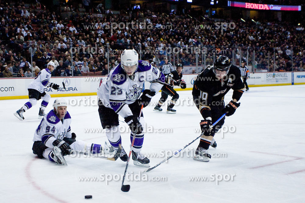 Dustin Brown (Los Angeles Kings, #23) during ice-hockey match between Anaheim Ducks and Los Angeles Kings in NHL league, Februar 23, 2011 at Honda Center, Anaheim, USA. (Photo By Matic Klansek Velej / Sportida.com)