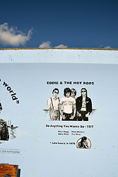 Canvey Island, Essex UK - Eddie & The Hot Rods mural, Concord Beach
