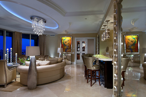 Alexander Residence At The Ritz Carlton Residences At Singer Island,  Florida, Photographed For