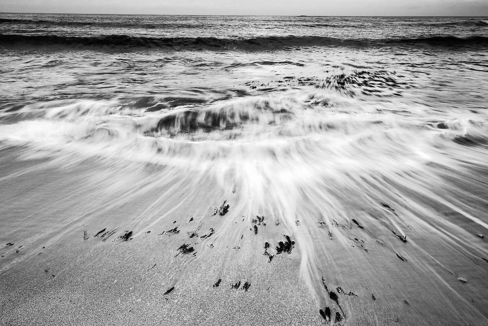 Wave retreat motion on Depot Beach. Murramarang National Park.