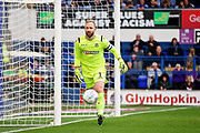 Bolton Wanderers goalkeeper Ben Alnwick (1) watches this one go safely past the post during the EFL Sky Bet Championship match between Ipswich Town and Bolton Wanderers at Portman Road, Ipswich, England on 22 September 2018.