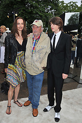 Left to right, DAVID & CATHERINE BAILEY and SASCHA BAILEY at the annual Serpentine Gallery Summer Party sponsored by Burberry held at the Serpentine Gallery, Kensington Gardens, London on 28th June 2011.