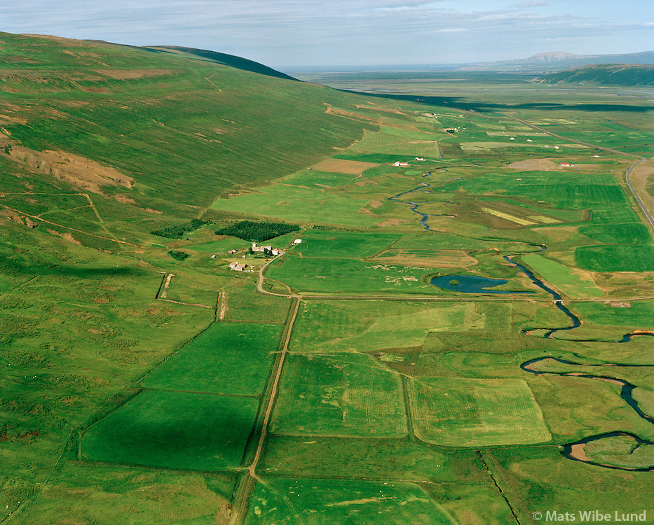 Gvendarstaðir séð til norðurs, Þingeyjarsveit áður Ljósavatnshreppur / Gvendarstadir viewing north, Thingeyjarsveit former Ljosavatnshreppur.