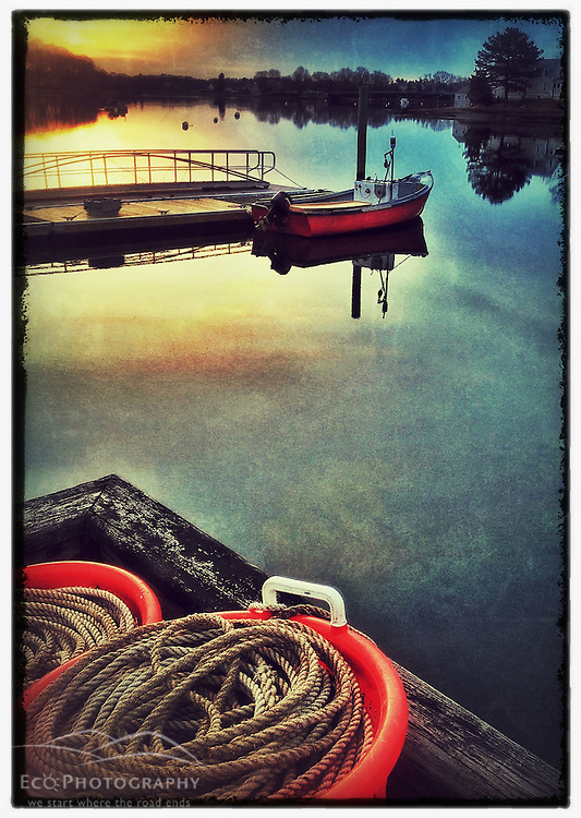 """Portsmouth Harbor dawn, Portsmouth, New Hampshire. iPhone photo -suitable for print reproduction up to 8"""" x 12""""."""
