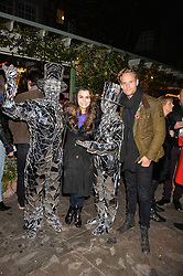 Samantha Barks and Jack Fox at The Ivy Chelsea Garden's Guy Fawkes Party, 197 King's Road, London, England. 05 November 2017.