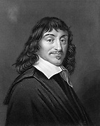 Rene Descartes (1596-1650) French mathematician and philosopher. Engraving after portrait by Frans Hals