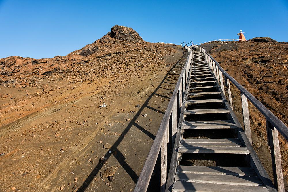 Walkway &amp; tourists<br /> Bartolome Island<br /> Galapagos<br /> Ecuador, South America