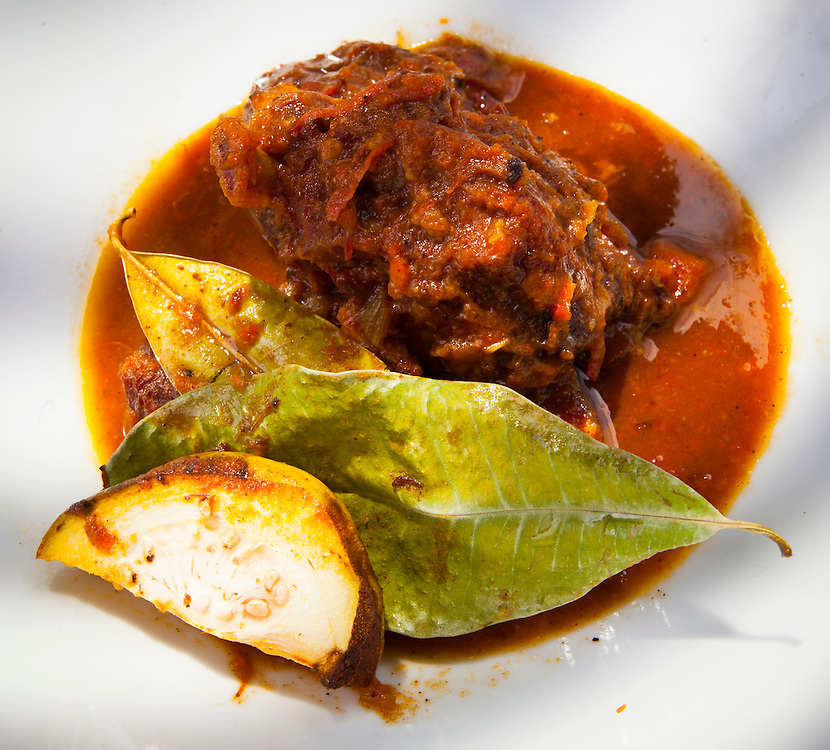 Goat stew by Chef Kris Wessel at his restaurant, Oolite, in Miami Beach's South Beach