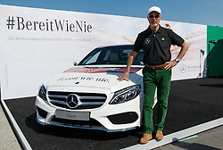 "04.05.2014, Hockenheimring, Hockenheim, GER, DTM, 1. Lauf, Hockenheimring, Pressekonferenz, im Bild Franz Beckenbauer mit Mercedes C Klasse und Slogan ""BEREIT WIE NIE"" // during a press Conference prior to the 1th run of DTM at the Hockenheimring in Hockenheim, Germany on 2014/05/04. EXPA Pictures © 2014, PhotoCredit: EXPA/ Eibner-Pressefoto/ Neis<br /> <br /> *****ATTENTION - OUT of GER*****"