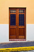 Residence,  Peach Wall, Wooden door, beautiful, 18th-19th-century architecture, historic, Doorways, Doors, Cobblestone, Streets, Pavements , pictures of front door entrances
