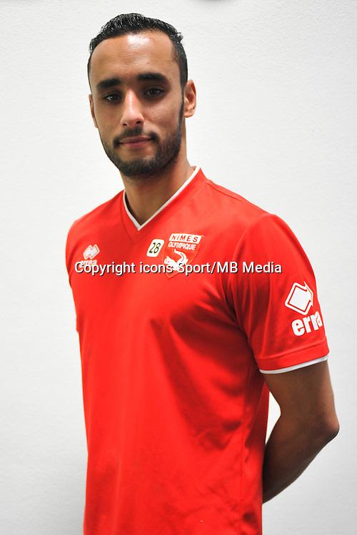 Abdel HISSISSANE - 16.09.2014 - Photo officielle Nimes - Ligue 2 2014/2015<br /> Photo : Icon Sport
