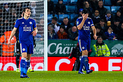 Harry Maguire of Leicester City cuts a dejected figure - Mandatory by-line: Robbie Stephenson/JMP - 18/12/2018 - FOOTBALL - King Power Stadium - Leicester, England - Leicester City v Manchester City - Carabao Cup Quarter Finals