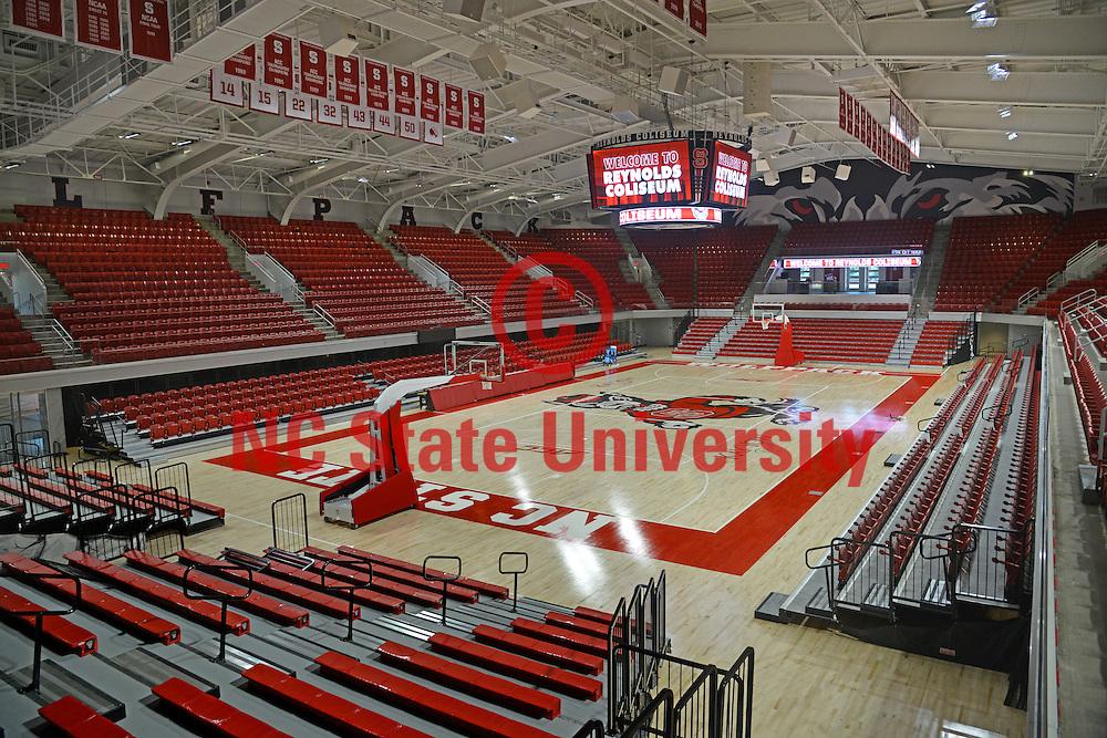 The newly refurbished Reynolds Coliseum.