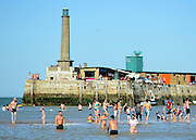 © Licensed to London News Pictures. 09/09/2012. Margate, UK People on the beach in the sunshine at Margate in Kent today, 09 September 2012. Photo credit : Stephen Simpson/LNP