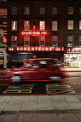UK ENGLAND LONDON 26MAR14 - Robertsons' Ltd on Edgware Road, Paddington, central London.<br /> <br /> jre/Photo by Jiri Rezac<br /> <br /> © Jiri Rezac 2014