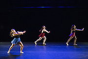 Santa Clara University Department of Theatre & Dance students perform during the dress rehearsal of Spring Dance Festival at Santa Clara University's Fess Parker Studio Theatre in Santa Clara, California, on April 11, 2014. (Stan Olszewski/SOSKIphoto)