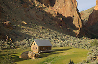 Cabin in Leslie Gulch in the Owyhee Uplands of SE Oregon