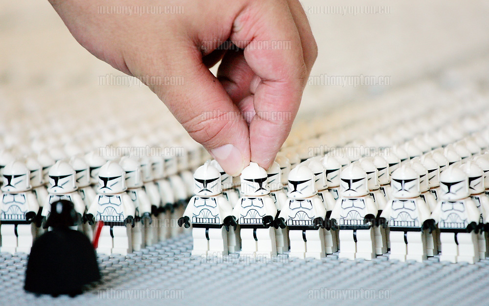 LEGO UK  sets a world record by having the most number of LEGO Star Wars  Stormtrooper mini figures in one location.PRESS ASSOCIATION Photo. Picture date: Friday June 27th  2008.Today, LEGO UK set a new Guinness World Record by assembling the greatest number of LEGO Star Wars Stormtrooper mini figures at their Slough Headquarters. LEGO UK employees are being sponsored to raise money for The National Autistic Society during their record breaking attempt..Photo credit should read: Anthony Upton/PA Wire
